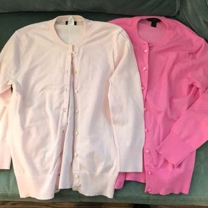 J. Crew xs Jackie cardigan top sweater pink bundle